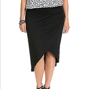 Black lane Bryant asymmetrical  skirt